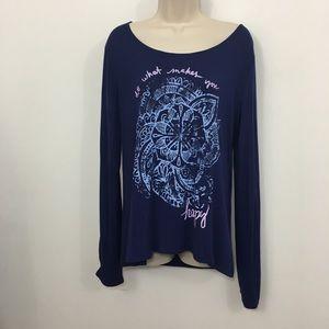 Gaiam graphic tee Long Sleeve T-shirt Size XL